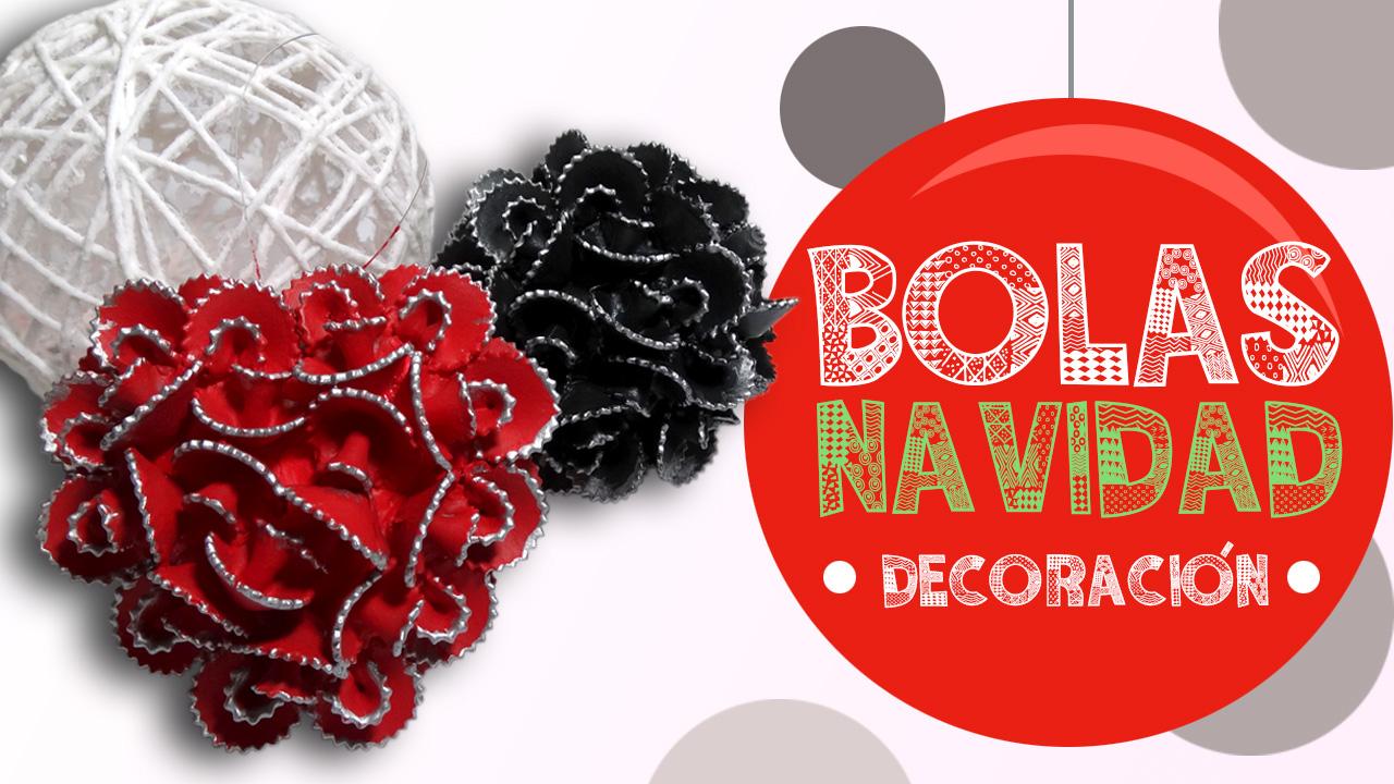 Diy Bolas De Navidad Con Pasta Y Cordon Que Cositas Diy - Como-hacer-bolas-de-navidad
